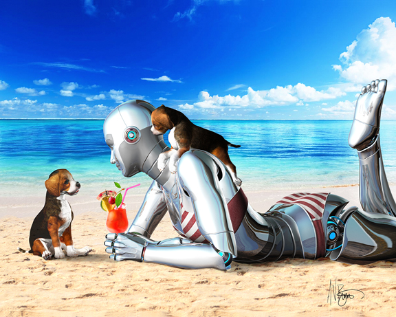 Angie Droid Goes on Vacation by Victor Bosson Copyright 2013